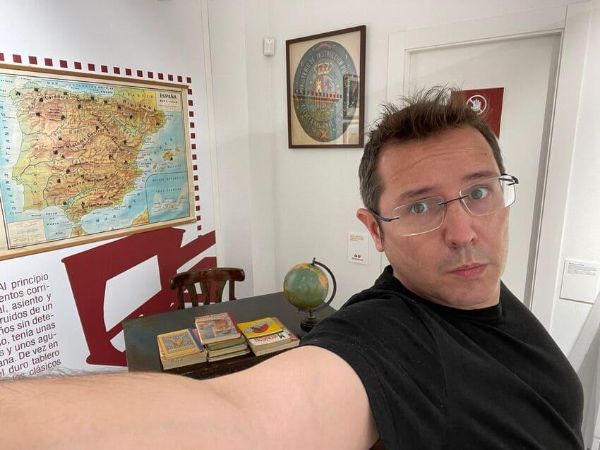Sergio Martín en el museo de educación
